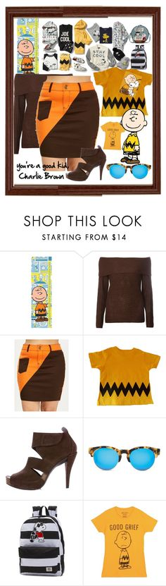 """""""you're a good kid Charlie Brown outfit"""" by caroline-buster-brown ❤ liked on Polyvore featuring Marmont Hill, Dorothy Perkins, Pedro García, TOMS, Vans and Olympia Le-Tan"""