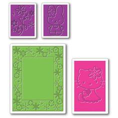 Hello+Kitty+Sizzix | Sizzix Textured Impressions Embossing Folders 4PK, Hello Kitty Spring ...