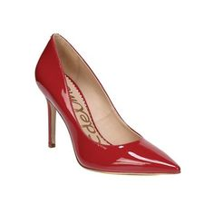 Women's Sam Edelman Hazel Pointed Toe Stiletto ($120) ❤ liked on Polyvore featuring shoes, pumps, dresses, heels, red, sexy red pumps, sexy high heel pumps, red stiletto pumps, high heeled footwear and heels stilettos