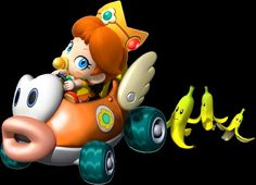 Cute baby Daisy in her cheep cheep Car,Mario Kart Wii!!