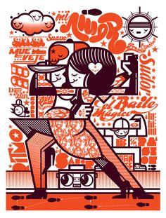 Nike Dance+Mr Kone by Mr. Kone, via Behance