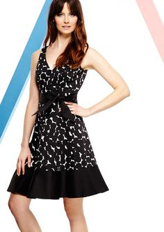On ideeli: NINE WEST V-Neck Cluster Dot Border Tank Dress