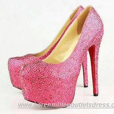 Pink Crystal Pumps - Christian Louboutin