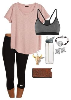 """Lazy lazy"" by daddys-lil-redneck ❤ liked on Polyvore featuring NIKE, H&M, CamelBak and Blue Nile"