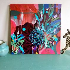 Abstract Art Paintings 736620082782119254 - Colourful abstract painting by Helen Wells in room setting Source by martinecresp Colorful Paintings, Colorful Abstract Art, Abstract Flowers, Modern Art Paintings, Abstract Paintings, Claude Monet, Pablo Picasso, Art Blog, Painting Inspiration