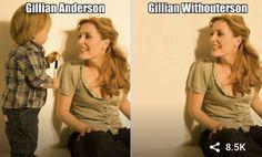 Punny Puns, Puns Jokes, Funny Memes, Dad Puns, Stupid Memes, Funny Fails, Gillian Anderson, Celebrity Name Puns, Funny Celebrity Memes