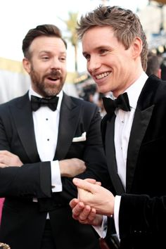 Jason Sudeikis and Eddie Redmayne at event of The Oscars (2016)