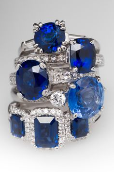 Sapphire Rings! From Antique to Retro Mid-Century to Modern!
