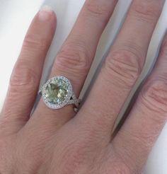 Green Amethyst Ring (GR-2083)