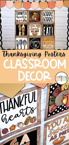 Bring in the excitement of Thanksgiving into your classroom with these farmhouse holiday posters! You and your students will love these trendy seasonal posters! These posters are meant to complement any farmhouse themed classroom and will also work perfectly with any other decor because of the black and white accents. Thanksgiving classroom bulletin board ideas. Easy Thanksgiving classroom decor. #seasonalclassroomdecor #classroomdecorations #bulletinboardideas #classroomposters Fall Classroom Decorations, Classroom Wall Decor, Classroom Walls, Classroom Bulletin Boards, Classroom Posters, Classroom Design, Kindergarten Classroom, Thanksgiving Decorations, Seasonal Decor