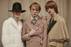 Backstage at the Gucci Men's Fall Winter 2016 Fashion Show