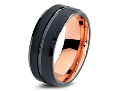 2015 Must Have Tungsten Carbide Wedding Bands High Quality In style Tungsten Carbide Wedding Bands - Comfort Fit - 8mm - 18K Rose Gold Plated  -