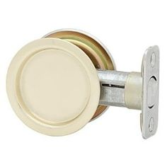 Kwikset 334 3x32 Pocket Door Lock, Passage Function, Split Finish: Brass (Outside) by Bright Chrome (Inside) by Kwikset. $7.99. From the Manufacturer As the industry leader, Kwikset has provided trusted security for over 60 years and has become synonymous with security, peace of mind, style and innovation. Our innovative round design fits a standard 2-1/8-Inch drilled door, allowing easy installation with a standard screwdriver. The Polished Brass finish adds to the traditional ...
