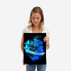 Wonderful Water Bender poster made out of metal. Metal Wall Plate for Bedroom and Living Room Get It Here Water Bender, Poster Making, Plates On Wall, Metal Walls, Making Out, Poster Prints, Living Room, Bedroom, Anime