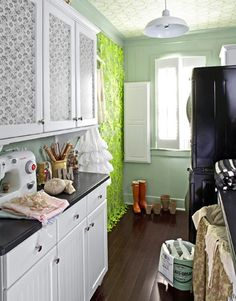 Savvy tips for organizing a small (6x10) laundry room.