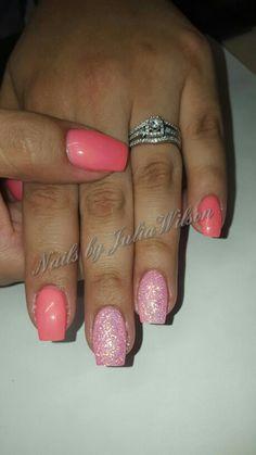 #NailsbyJuliaWilson #nails #Pinknsparkles