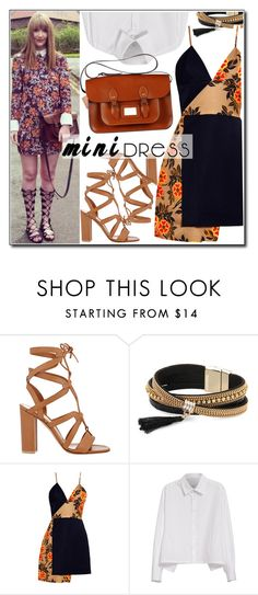 """""""Holiday Chic: Mini Dresses"""" by leathersatchel ❤ liked on Polyvore featuring Gianvito Rossi, Simons, MSGM and Y's by Yohji Yamamoto"""