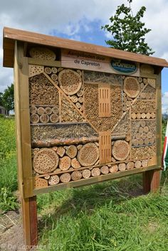 Bug Hotel, Bee House, Beneficial Insects, Permaculture, Wood Carving, Rustic Wood, Firewood, Homesteading, Wood Projects