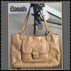 Authentic Coach Handbags.NWOT. ️Ask me about installment payments plan, Accept 🅿️🅿️ or Mercari for $ 210..COACH  Women's Handbag features a luxurious, soft leather exterior and sharp-looking gold hardware for structured, classy appeal. There is a large, buckle closure front pocket, double shoulder straps, and a magnetic snap closure to the main compartment. Inside the main compartment there is a roomy middle zipper compartment to hold all of your essentials, as well as inner zip and slide…