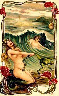 All Things Coastal Sea Glass| Serafini Amelia| Coastal Living-Vintage Illustration Mermaids