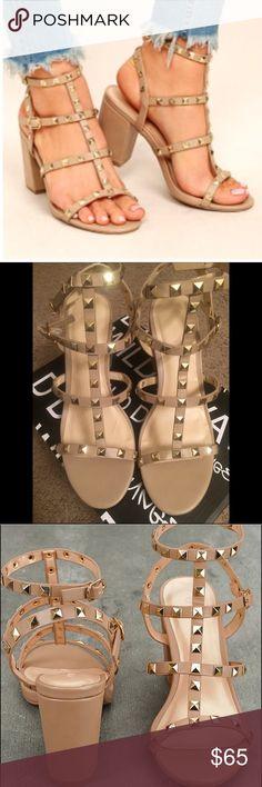 e8daf7658d8 Studded caged block heel sandals 8.5 Valentino dupes! Size 8.5 3.25
