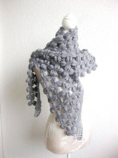 PDF CROCHET PATTERN pattern for scarf shawl Bean by Iovelycrochet, #tutorial, #pattern, #crochet scarf