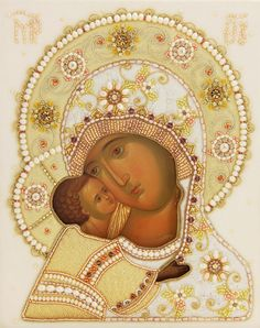 Wedding Set - Icon of the Mother of God - Hand-Painted Icon from the Workshop of…