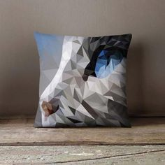 New cheap pet gift uploaded at SketchGrowl: Geometric Cat Polygon Pillowcase Personalized Pillow Cases, Custom Pillow Cases, Throw Pillow Cases, Pillow Covers, Gifts For Pet Lovers, Pet Gifts, Cat Lovers, Designer Pillow, Designer Throw Pillows