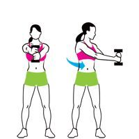 Abs in 15 Minutes- four standing exercises. I really like these because they're super simple!