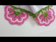 Beş Tepe Mutfak Havlusu Veya Yazma Kenarı Yapımı - YouTube Tea Cozy, Diy Crochet, Tatting, Crochet Earrings, Pattern, Projects, Fashion, Crochet Table Runner, Hand Embroidery