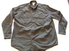 KING SIZE  Men's Shirts Size-2XL Green 79-5536-2 Very Good!  #KingSize #ButtonFront
