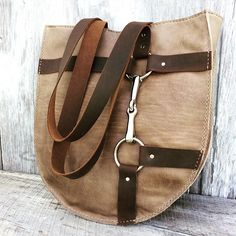 Rustic Leather Harness Bag in Distressed Brown with Leather Belt by Stacy Leigh by stacyleigh Leather Purses, Leather Wallet, Leather Bag, Equestrian Outfits, Equestrian Style, Horse Jewelry, Leather Harness, Leather Projects, Shopper Bag
