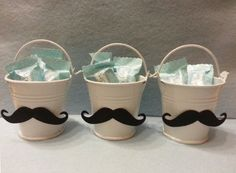 55 Ideas Baby Shower Party Favors For Men Mustache Birthday Baby Shower Party Favors, Baby Shower Centerpieces, Baby Shower Parties, Baby Shower Themes, Baby Boy Shower, Mustache Centerpieces, Little Man Centerpieces, Shower Ideas, Mustache Theme