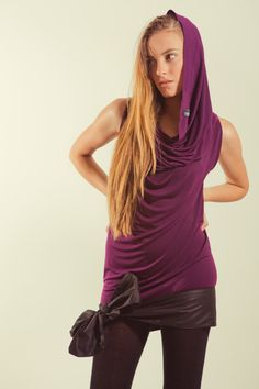 Tube Dress Convertible / Tube dress and top Maternity Friendly Aubergine Purple jersey