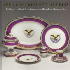 President Franklin Pierce selected a more elegant selection of official White House china in 1853. This service marked the first American decorated porcelain table service purchased by the United States Government for the White House.