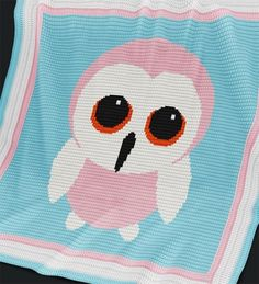 Crochet Pattern | Baby Blanket - Baby Owl