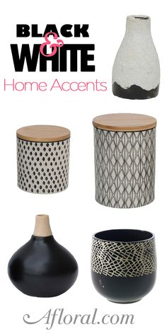 Decorate your home with these amazing containers found online at Afloral.com.