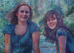 Shala and Kendra   Jeannie Vodden Art