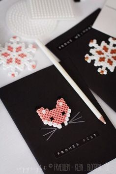 diy fox and snowflake Christmas cards #diychristmascard #foxcard