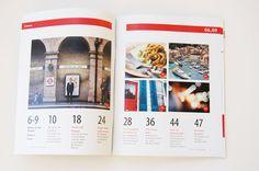 Rijuta Trivedi-Editorial Design-Travel 50 & Beyond magazine--- TOC idea? Magazine Design Inspiration, Magazine Layout Design, Layout Inspiration, Editorial Layout, Editorial Design, Table Of Contents Design, Newsletter Layout, Graphic Design Typography, Brochure Design