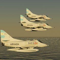 3D Argentine Navy A4 Q Model - 3D Model