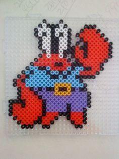 .SpongeBob Mr. Krabs hama perler beads