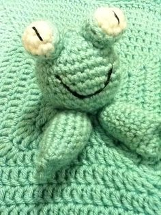 Baby Frog Lovey by TheNanimalShop on Etsy
