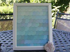 DIY Framed paint chip art