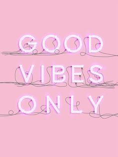 Neon good vibes - printable poster typography print, home decor minimalist scandinavian style quote in 2019 Bedroom Wall Collage, Photo Wall Collage, Picture Wall, Watch Wallpaper, Pink Wallpaper, Good Vibes Wallpaper, Aesthetic Pastel Wallpaper, Aesthetic Wallpapers, Typography Prints