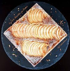 Tarte Noisettine aux Pommes (pâte sucrée, crème de noisettes, pommes). Délicieuse association!