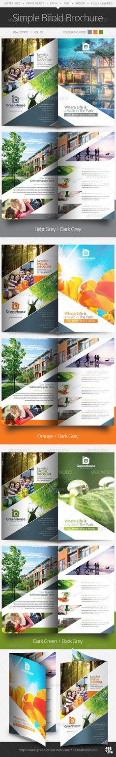 Simple Bifold Brochure Vol.02 - Informational Brochures