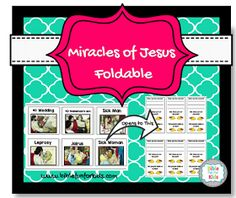 Miracles of #Jesus Foldable #Biblefun