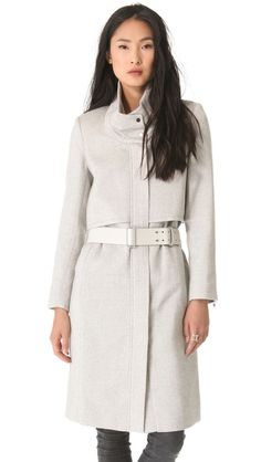 Helmut Lang Belted Coat - I love pretty much the entire fall collection from @HELMUT LANG - this jacket is incredible.