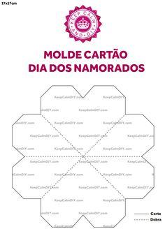 Molde Cartao Dia dos Namorados Keep Calm DIY 17x17cm